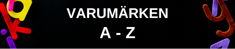 Varumärken A-Z